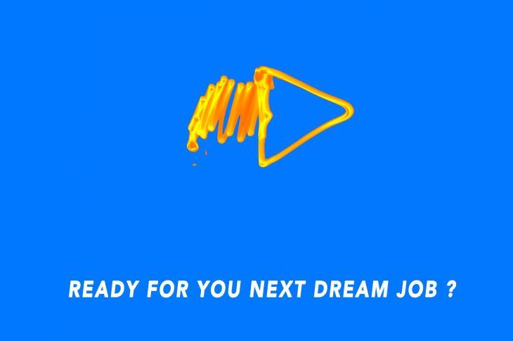 ready for your next dream job? forward arrow artwork
