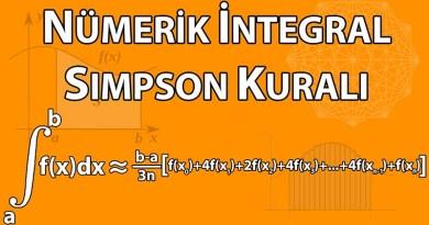 Sayısal Analiz: Simpson Kuralı ile Nümerik İntegral
