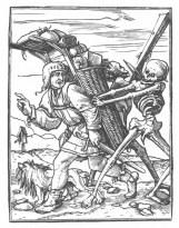 Holbein d. J.; Danse Macabre. XXXVII. The Pedlar