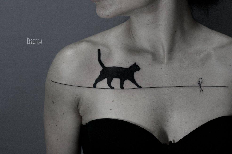 тату кошка для девушек 100 самых красивых вариантов на фото