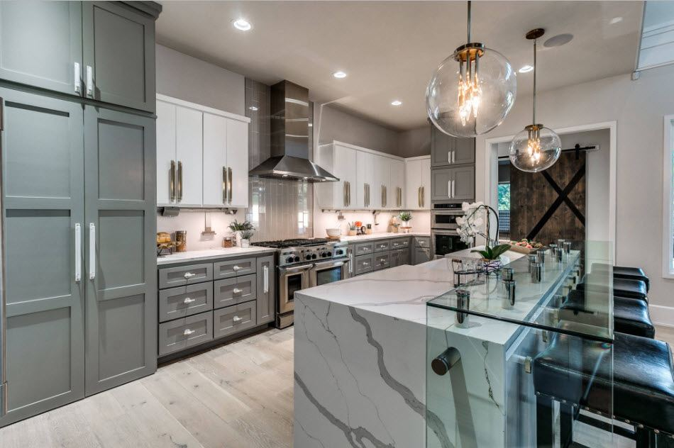 кухни двухцветные фото дизайн 5