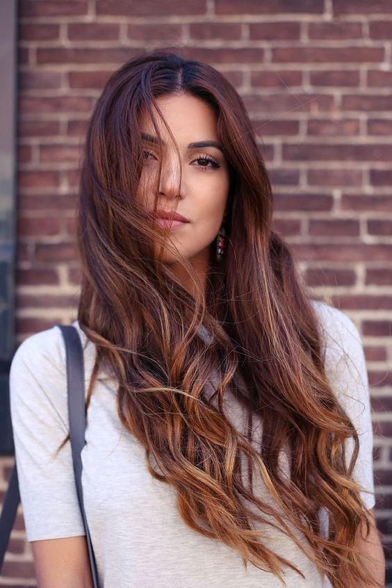 The most fashionable types of dyeing for long hair 31