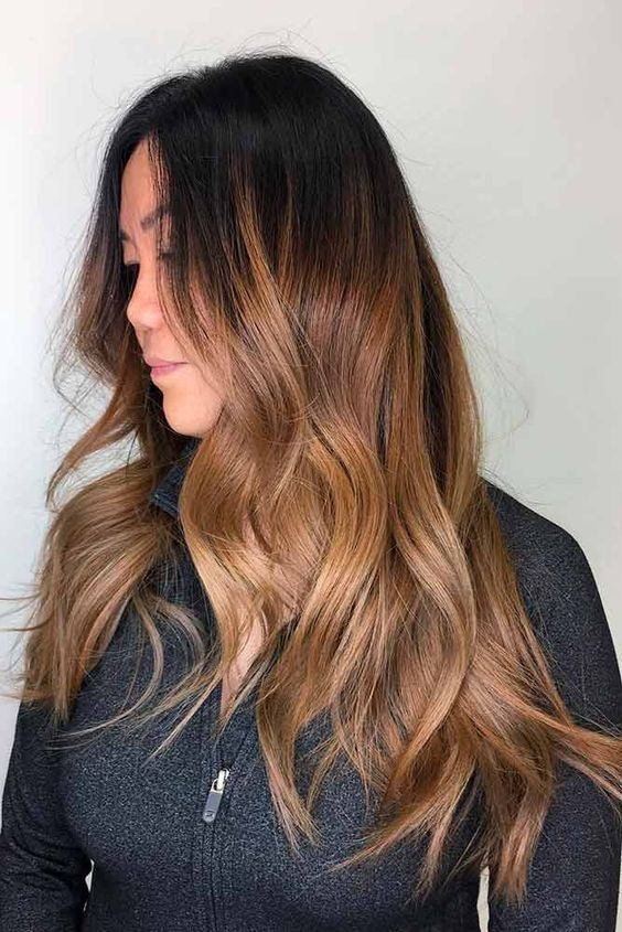 The most fashionable types of dyeing for long hair 24