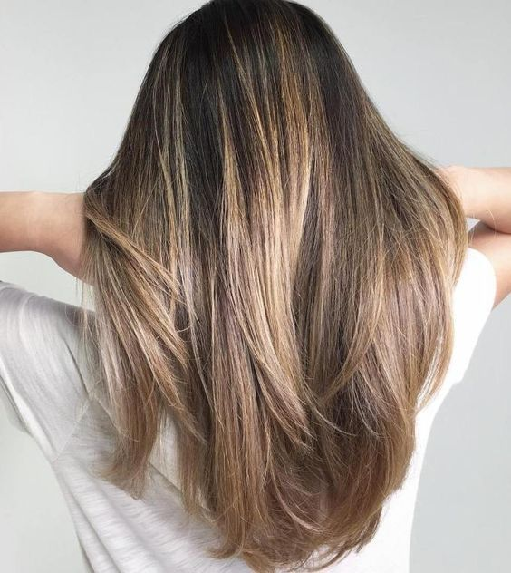 The most fashionable types of dyeing for long hair 8