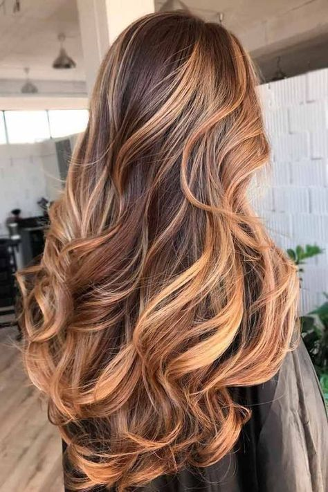 The most fashionable types of dyeing for long hair 42