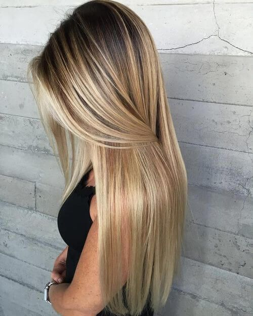 The most fashionable types of dyeing for long hair 7