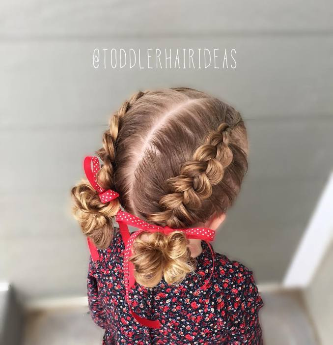 Simple and trendy hairstyles to school 29