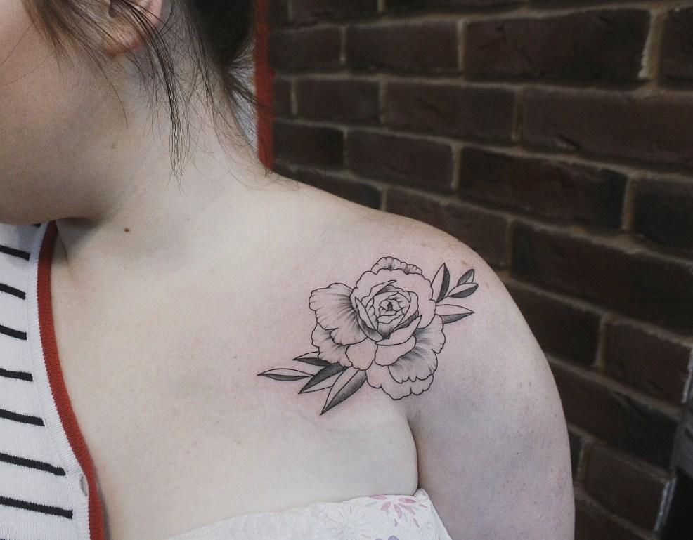 100 лучших эскизов тату пион для девушек фото значение