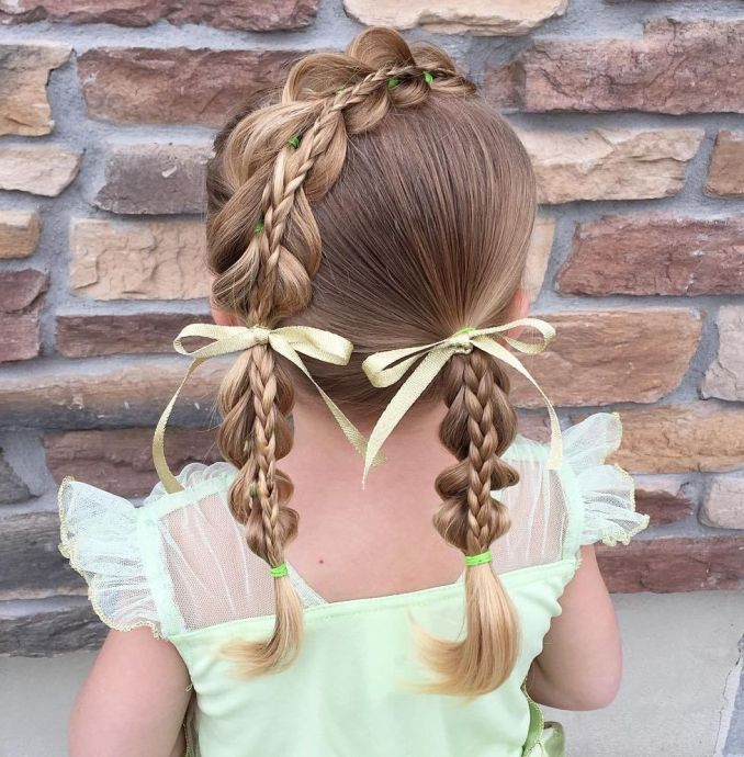 Simple and trendy hairstyles to school 3