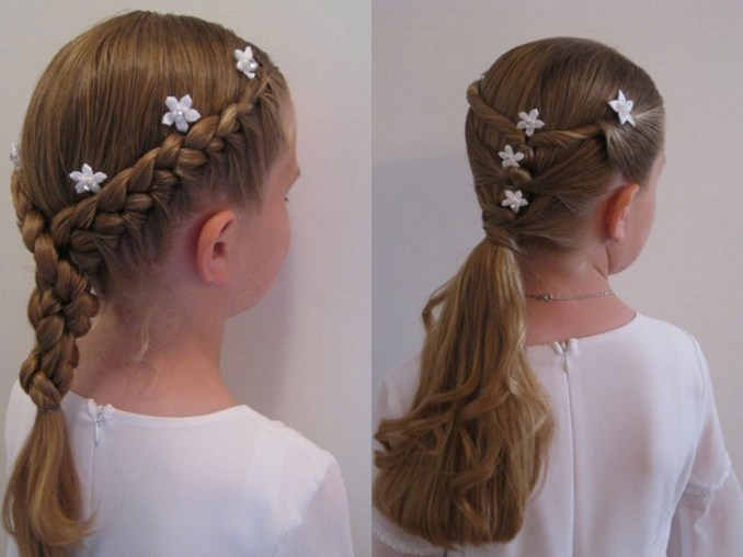 Simple and trendy hairstyles to school 7