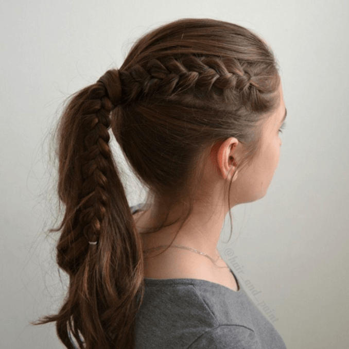 Simple and trendy hairstyles to school 15