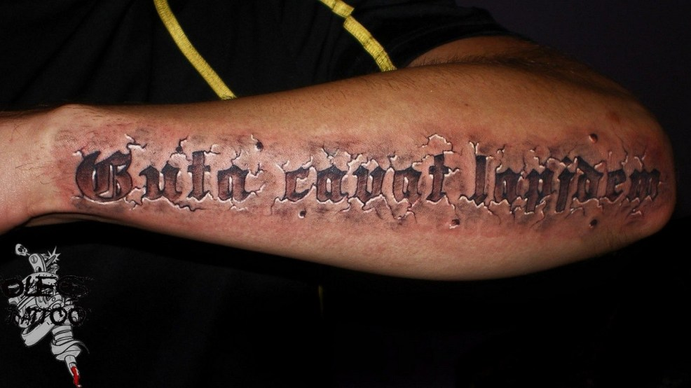 шрифты для тату 100 фото вариантов для красивых надписей