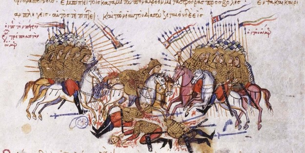 Fighting_between_Byzantines_and_Arabs_Chronikon_of_Ioannis_Skylitzes,_end_of_13th_century