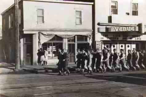 Avenue Theatre recruits on parade 1942 EA 160-903 (2)
