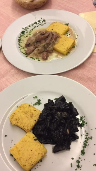 Liver & Cuttlefish with Polenta