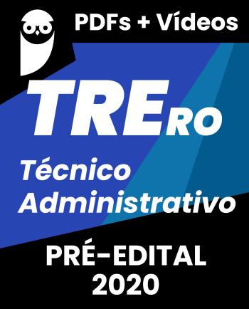 TRE-RO Técnico Judiciário Área Administrativa 2020
