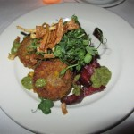 Joe Allen Quinoa and Pea Fritters
