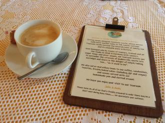 Castle Cottage Tearoom Latte