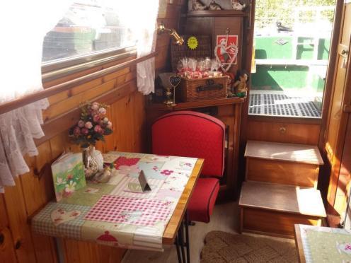 Safari Narrowboat Tearoom Interior