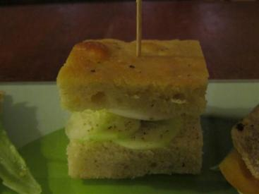Amico Bio Egg and Cucumber Focaccia