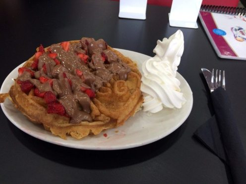 Sprinkles Strawberry Creation Waffle