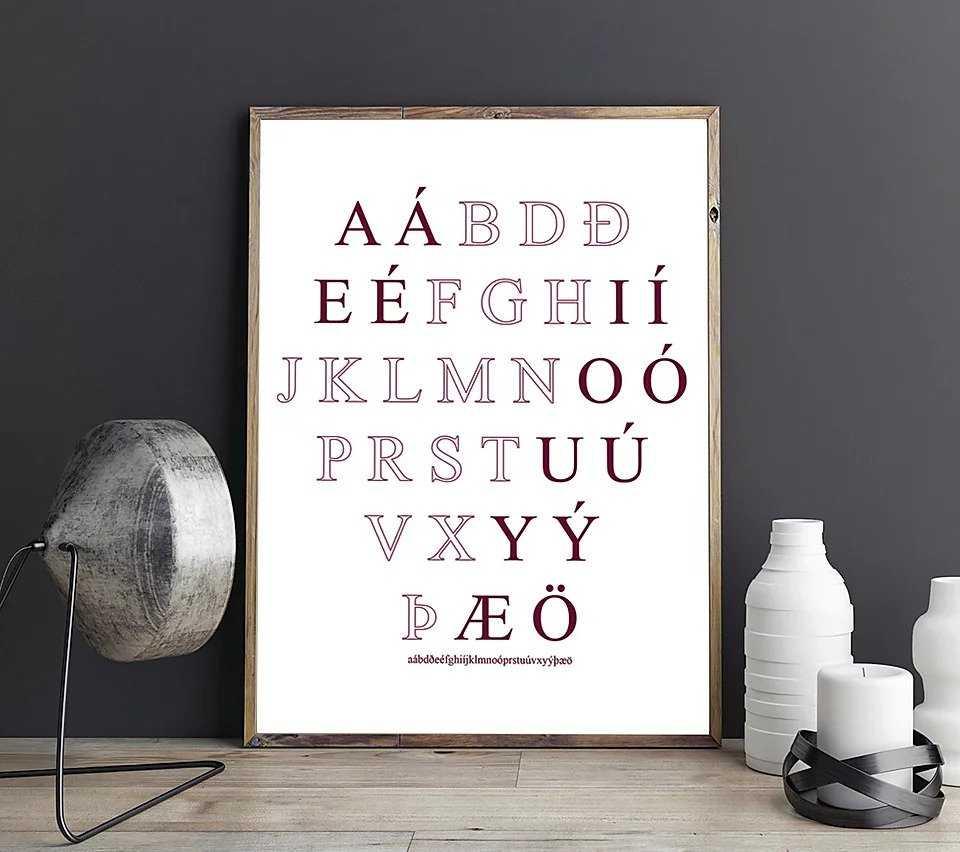 Alfabeto islandês.