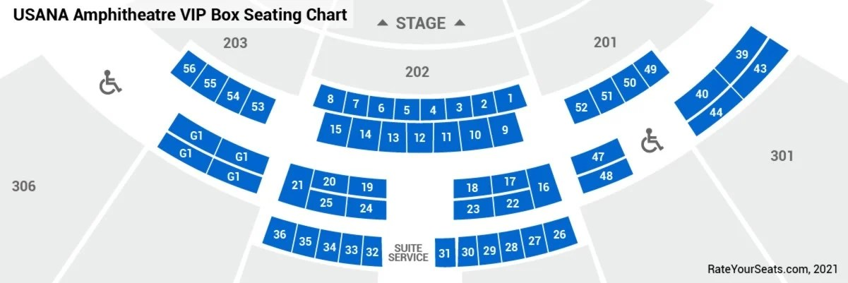 Usana Amphitheater Seating Section 102