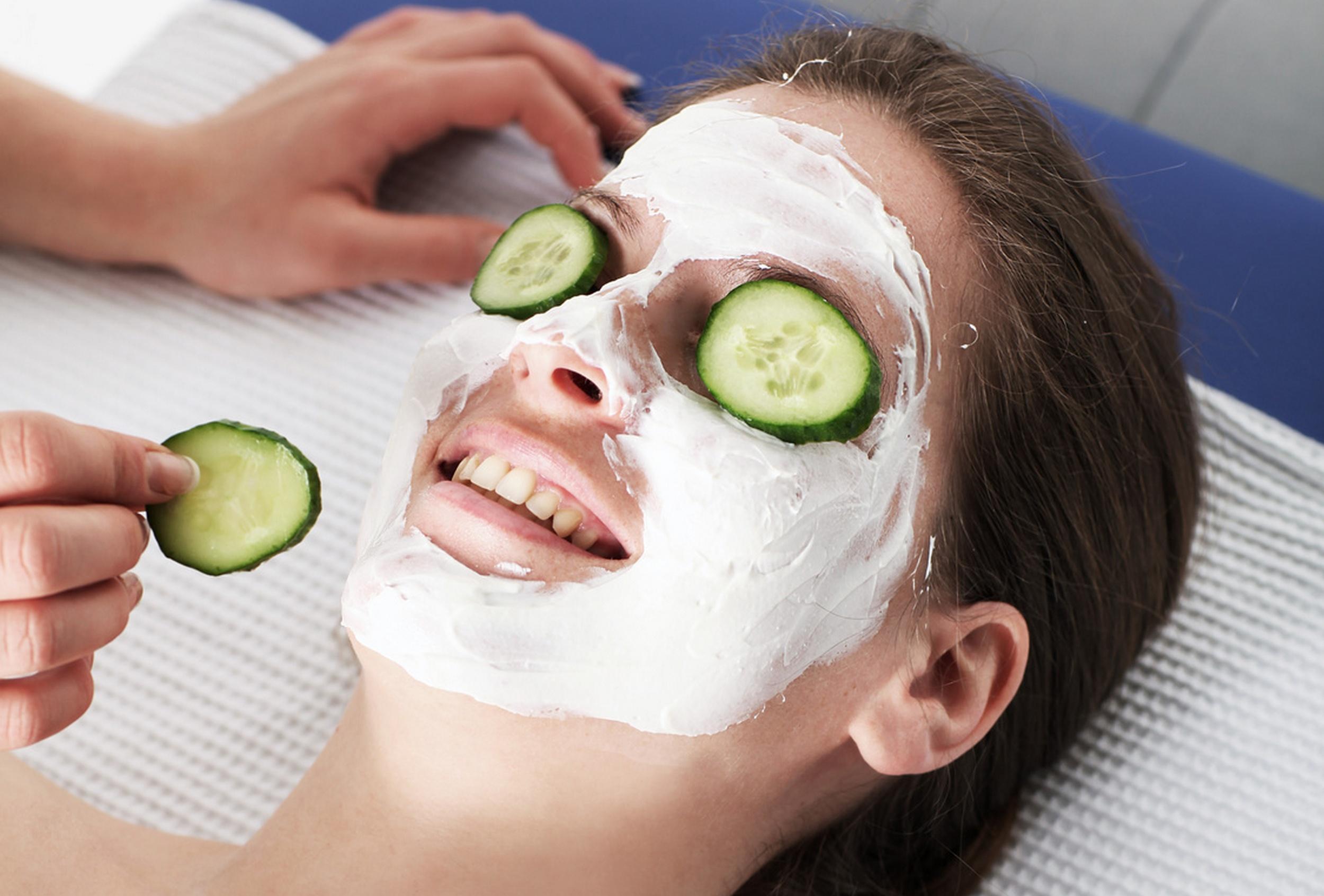 Gurken-Quarkmaske - Hausmittel bei Hautrötungen und zur Pflege