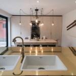 Brass worktop with sink