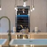Bespoke kitchen with brass island
