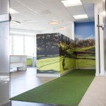 Putting green feature at office