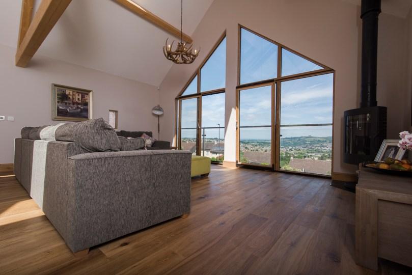 Open plan living in Bath