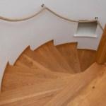 Bespoke, handmade wooden spiral staircase
