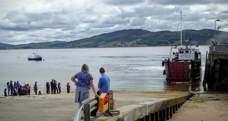 Lough Swilly ferry at Rathmullan pier