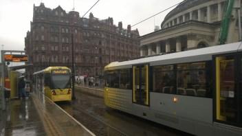 raitiotiepysäkki Manchesterissa