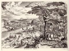 ブリューゲル「エマオへの道」(ベルギー王立図書館蔵)