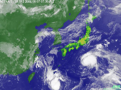 気象衛星画像2006年8月7日07時30分