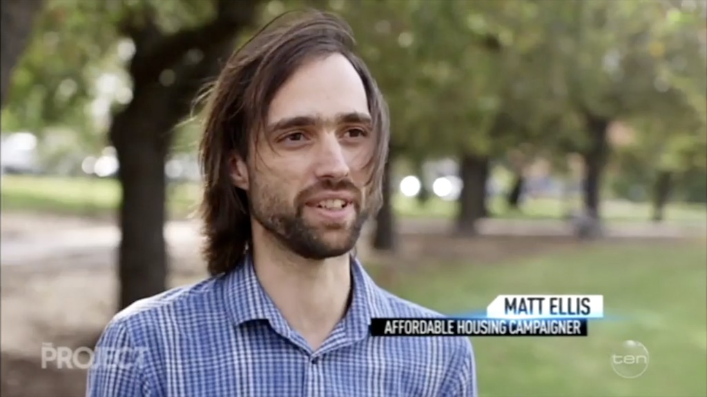 Rational Radical (Matt Ellis) talks housing affordability on The Project
