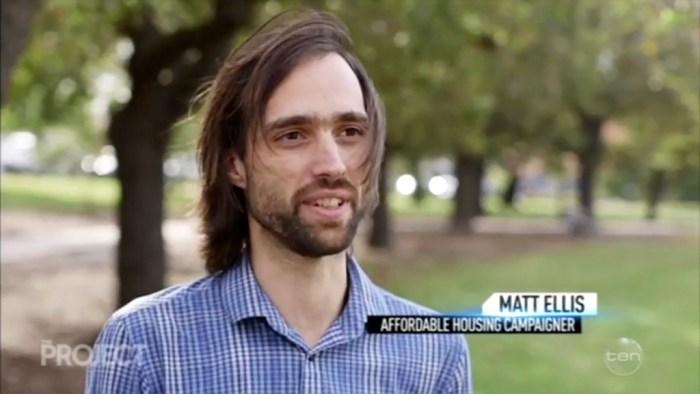 Matt Ellis (Rational Radical) on The Project 20 April 2017 - Housing Affordability