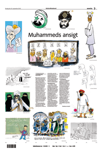 Jyllands-Posten page with Muhammad cartoons