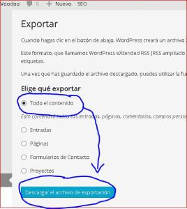 Formato xml de WordPress