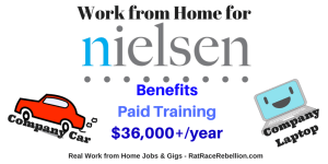Work from Home $36K/Year, Company Car & Laptop, Benefits - RatRaceRebellion.com