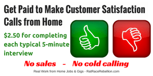 Get Paid to Make Customer Satisfaction Calls from Home