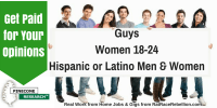 GuysWomen 18-24Hispanic or Latino Men & Women
