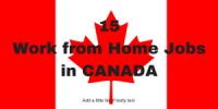 15 Work from Home Jobs in CANADA