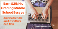 Earn $25%2FHr. Grading Middle School Essays