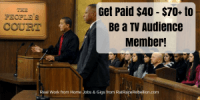 Get Paid $40 - $70+ to Be a TV Audience Member!