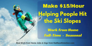 Make $15/Hour Helping People Hit the Ski Slopes - Seasonal, Work from Home