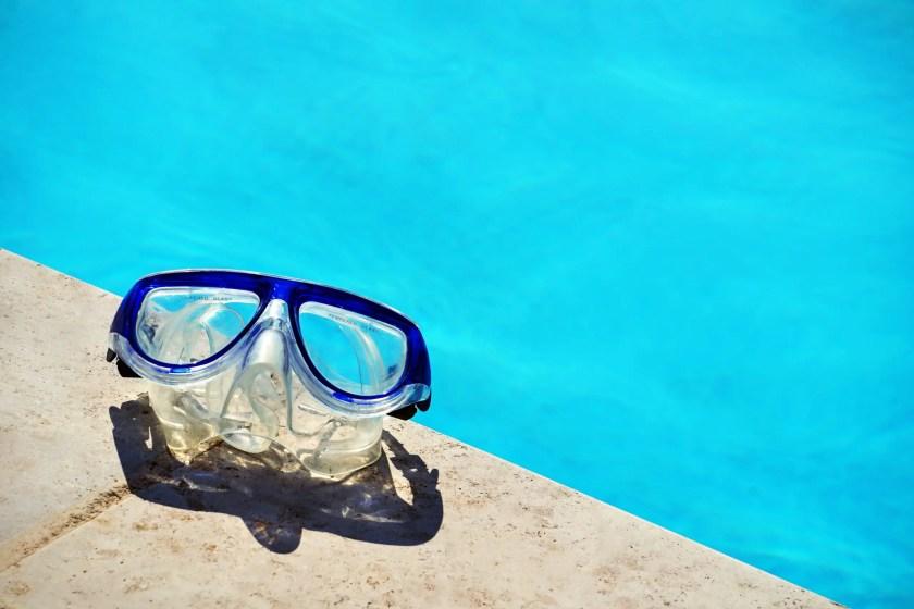Googles near a pool