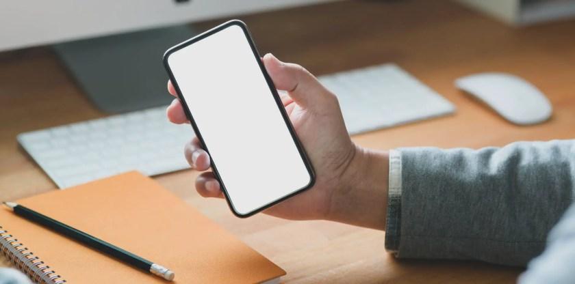 A blank phone